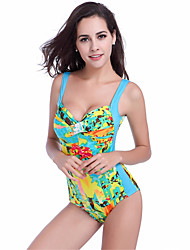 Women's Fashion Sexy Padded Printed One-piece Swimsuits