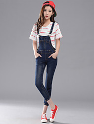 Sign jianling denim overalls female pantyhose 2017 new spring and summer
