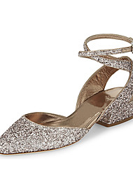 Women's Sandals Summer D'Orsay & Two-Piece Leatherette Wedding Dress Casual Low Heel Buckle