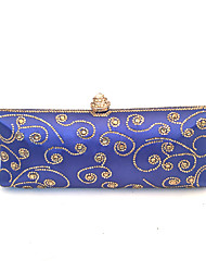 Women Crystal Beads Event/Party / Wedding Evening Bag Blue