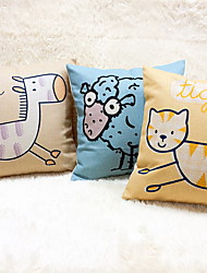 1 pcs Linen Pillow Case Body Pillow Travel Pillow Sofa Cushion Novelty Pillow,Animal PrintTropical Accent/Decorative Outdoor