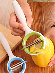 Paring Knife Can Rotate Fruits Fruit And Vegetable Cutter Stainless Steel Peeler            Color Random