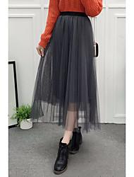 Damen Hohe Hüfthöhe Ausgehen Knielänge Röcke Stifte einfarbig Riemengurte Sommer