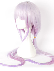 Cosplay Wigs Cosplay Cosplay Purple Long Straight Anime Cosplay Wigs 100 CM Heat Resistant Fiber
