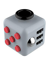 Anxiety Reliever Fidget Dice Cubic Cube Fidget Toys for Focusing / Stress Relieving ABS ---Gray red