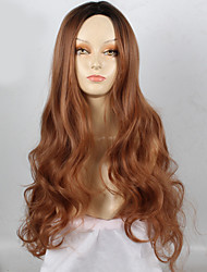 Synthetic Wigs Long Brown Wave Heat Resistant Wigs For Women