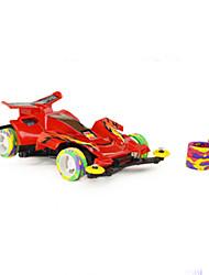 Машинки Формулы 1 Игрушки Игрушки на солнечных батареях 1:32 Пластик Серебристый Кот Коричневый Белый Модели и конструкторы