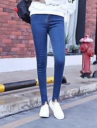 signe véhicule neuf élément était mince jeans taille féminine version coréenne de l'étudiant crayon stretch mince