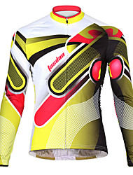 TASDAN Cycling Jersey Men's Bike Jacket Breathable Quick Dry Back Pocket 100% Polyester Solid Cycling/Bike RunningSpring Fall/Autumn