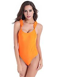 Women's Fashion Sexy Padded Ruffle One-piece Swimsuits