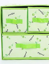 Storage Boxes Storage Units Textile withFeature is Lidded , For Underwear Cloth