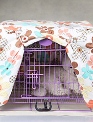 Cat Dog Cage Fabric Cover Multicolor Flower