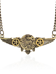 Vintage Animal Pendant Necklace Gear Charm Steampunk Necklaces-Bee Wing