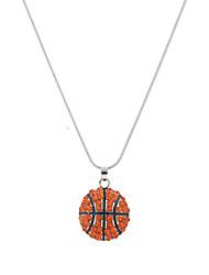 Lureme Fashion Crystal Rhinestone Basketball Necklace