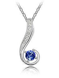 Women's Pendant Necklaces Crystal Hook Chrome Personalized Jewelry For Wedding Congratulations Gift 1pc