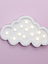 Nordic Style LED Night Light Table Lamp Wall Lamp Wall Decoration LED Ornament Children Room Decoration  White Cloud Cartoon Lamp