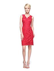 LAN TING BRIDE Knee-length Straps Bridesmaid Dress - Elegant Sleeveless Lace