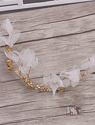 Aleación Perla Artificial Tejido Celada-Boda Ocasión especial Casual Tiaras Coronas 1 Pieza