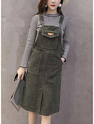 Sign ex feminino slim retro corduroy saia cinto vestido fenda bolsos outono e inverno seção longa