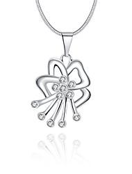 Женский Ожерелья с подвесками Кристалл Стерлинговое серебро Хрусталь Имитация Алмазный Геометрической формыУникальный дизайн С логотипом