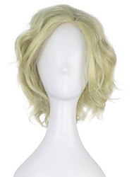Women Lucy Adult Short Curly Light Green Color Movie Cosplay Costume Party Wig Halloween