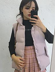 Sinal ~ versão coreana era fino para baixo colar sem mangas colete veste bolso