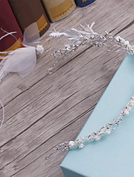 Feather allloy headpiece-wedding ocasião especial casuais casual tiaras headbands 1 peça
