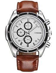 Masculino Relógio Elegante Relógio de Moda Relógio Casual Chinês Quartzo PU Banda Legal Casual Marrom Branco Preto