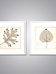 Framed Canvas Prints  Maple Leaf  Picture Print on Canvas Modern Artworks with White Frame  for Home Decoration