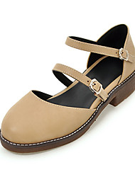 Women's Sandals Spring Summer Fall Club Shoes PU Office & Career Party & Evening Dress Low Heel Buckle