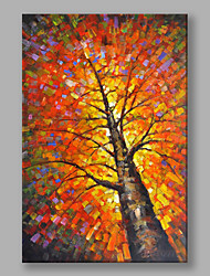 IARTS®Hand Painted Abstract Landscape Oil Painting Autumn Color Tree Wall Art For Home Decoration