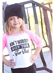 Boy Girl Long Sleeve Cottom Hit Color T-shirt Printed Letter Kids clothing Baby clothes