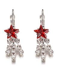 2017 New Brand Fashion Star Tassel Earrings Crystal Rhinestones Earrings  Wedding Party Statement Jewelry Accessories