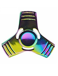 Colorful Hand Tri-Spinner Fidgets Toy Torqbar Alloy EDC Sensory Fidget Spinners for Autism and Kids/Adult Funny