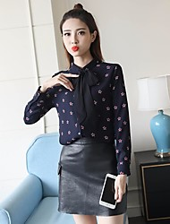Women's Casual/Daily Simple Blouse,Floral V Neck Long Sleeve Others