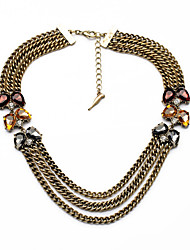 Women's Strands Necklaces Jewelry Chrome Unique Design Jewelry For Birthday Thank You Christmas Gifts 1pc