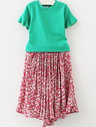 Girl's Beach Dress,Rayon Summer ½ Length Sleeve