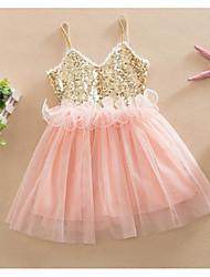 Girl's Beach Solid Dress,Rayon Summer Sleeveless