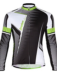 TASDAN Cycling Jersey Men's Bike Jacket Quick Dry Breathable Back Pocket 100% Polyester Solid Cycling/Bike Running Spring Winter