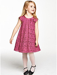 Girl's Casual/Daily Solid Polka Dot Dress,Cotton Summer Sleeveless