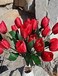 1 Une succursale Plastique Tulipes Fleur de Table Fleurs artificielles 30*30*42