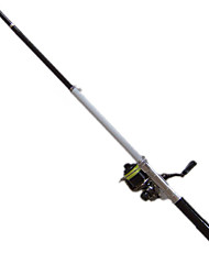 Fishing Rod Telespin Rod Carbon steel 140 M General Fishing Rod Black-Other