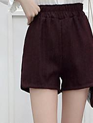 firmar 2017 de primavera y verano nuevas yardas coreanas pierna ancha pantalones cortos pantalones casuales a cuadros