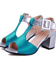 Femme-Décontracté Soirée & Evénement--Gros Talon Block Heel-Bride de Cheville Flower Girl Chaussures De minuscules talons pour les ados-