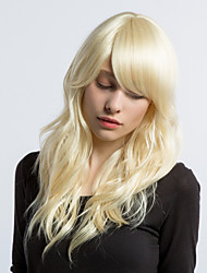 MAYSU Ethereal Beige  Hair Partial Fringe Hair  Synthetic Wig Beautiful   Woman hair