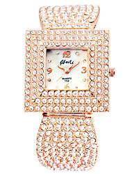 Mulheres Relógio de Moda Quartzo Lega Banda Ouro Rose Ouro Rose