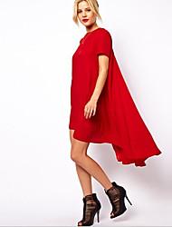 venta rápida a través de eBay Europa y los estados unidos nueva cola irregular Swavy vestido de manga corta de gran tamaño de la playa