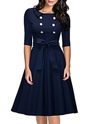 Aliexpress amazon éclate les modèles en Europe et en Amérique&Robe ronde à col double robe à grosse taille