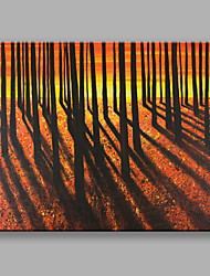IARTS Hand Painted Modern Abstract Landscape Painting The Woods With Sunshine Wall Art For Home Decor