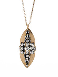Women's Statement Necklaces Crystal Leaf Chrome Fashion Personalized Jewelry For Wedding Congratulations 1pc